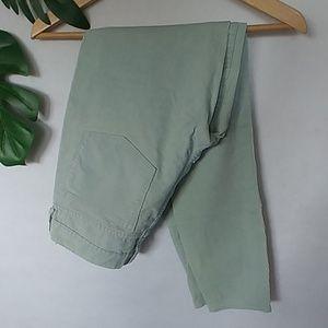 J. Crew Mint Toothpick Corduroy Pants